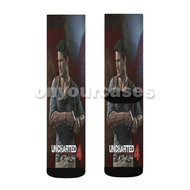 Uncharted 4 Custom Sublimation Printed Socks Polyester Acrylic Nylon Spandex with Small Medium Large Size