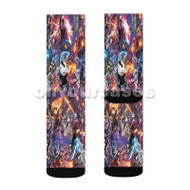 X Men All Characters War Custom Sublimation Printed Socks Polyester Acrylic Nylon Spandex with Small Medium Large Size