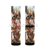 Xenoblade Chronicles Custom Sublimation Printed Socks Polyester Acrylic Nylon Spandex with Small Medium Large Size