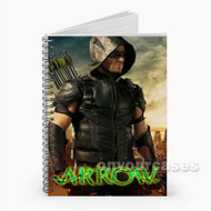 Arrow on Mask  Custom Personalized Spiral Notebook Cover