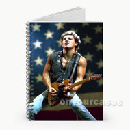 Bruce Springsteen American Flag  Custom Personalized Spiral Notebook Cover