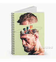 Conor Mc Gregor Think  Custom Personalized Spiral Notebook Cover