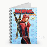 Deadpool Spiderman  Custom Personalized Spiral Notebook Cover