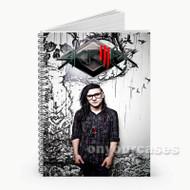 DJ Skrillex  Custom Personalized Spiral Notebook Cover