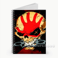 Five Finger Death Punch Skull  Custom Personalized Spiral Notebook Cover