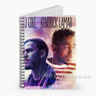 Kendrick Lamar and J Cole  Custom Personalized Spiral Notebook Cover