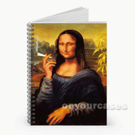 Mona Lisa Smoking Joint  Custom Personalized Spiral Notebook Cover