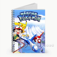 Pokemon Heroes  Custom Personalized Spiral Notebook Cover