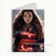 Scarlet Witch The Avengers  Custom Personalized Spiral Notebook Cover