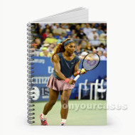 Serena Williams Tennis  Custom Personalized Spiral Notebook Cover