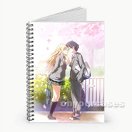 Shigatsu wa Kimi no Uso  Custom Personalized Spiral Notebook Cover