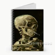 Skull With Cigarette Vincent Van Gogh Custom Sublimation Printed Socks Polyester Acrylic Nylon Spand