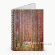 Tannenwald Gustav Klimt  Custom Personalized Spiral Notebook Cover