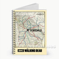 The Walking Dead Map  Custom Personalized Spiral Notebook Cover