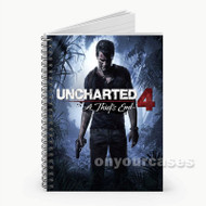 Uncharted 4 A Thief s End  Custom Personalized Spiral Notebook Cover