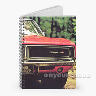 1969 Dodge Charger Custom Personalized Spiral Notebook Cover