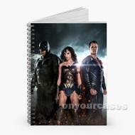 Batman Wonder Woman Superman Custom Personalized Spiral Notebook Cover