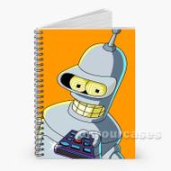 Bender Futurama Custom Personalized Spiral Notebook Cover