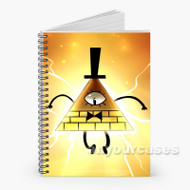 Bill Cipher Gravity Falls 2 Custom Personalized Spiral Notebook Cover