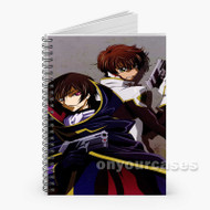 Code Geass Lelouch Lamperouge and Suzaku Kururugi Custom Personalized Spiral Notebook Cover