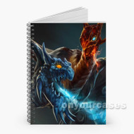 Dragon Ice and Fire Dota 2 Custom Personalized Spiral Notebook Cover