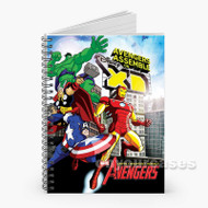 The Avengers Earth s Mightiest Heroes Custom Personalized Spiral Notebook Cover