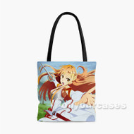 Asuna Yuuki Sword Art Online Custom Personalized Tote Bag Polyester with Small Medium Large Size