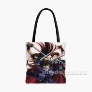 Code Geass Lelouch Lamperouge and Suzaku Kururugi 2 Custom Personalized Tote Bag Polyester with Small Medium Large Size