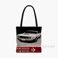 Ford Mustang Boss 429 Custom Personalized Tote Bag Polyester with Small Medium Large Size