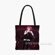 Gasai Yuno Black Dress Custom Personalized Tote Bag Polyester with Small Medium Large Size