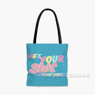 Get Your Shits Together Rick and Morty Quotes Custom Personalized Tote Bag Polyester with Small Medium Large Size
