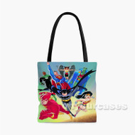 Justice League Unlimited DC Comics Superheroes Custom Personalized Tote Bag Polyester with Small Medium Large Size