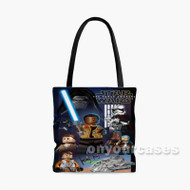 Lego Star Wars The Force Awakens Custom Personalized Tote Bag Polyester with Small Medium Large Size