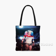 Margot Robbie as Harley Quinn Custom Personalized Tote Bag Polyester with Small Medium Large Size