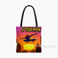 Marvel The Spectacular Spider Man Custom Personalized Tote Bag Polyester with Small Medium Large Size