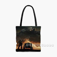 Millennium Falcon Droid Star Wars the Force Awakens Custom Personalized Tote Bag Polyester with Small Medium Large Size