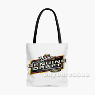 Miller Genuine Draft Beer Custom Personalized Tote Bag Polyester with Small Medium Large Size