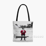 Panic at The Disco Brendon Urie Red Custom Personalized Tote Bag Polyester with Small Medium Large Size