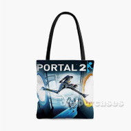 Portal 2 2 Custom Personalized Tote Bag Polyester with Small Medium Large Size