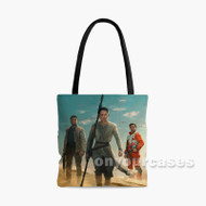 Star Wars The Force Awakens Rey Finn and Poe Custom Personalized Tote Bag Polyester with Small Medium Large Size