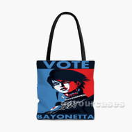 Super Smash Bross Vote for Bayonetta Custom Personalized Tote Bag Polyester with Small Medium Large Size