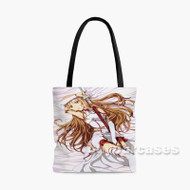 Sword Art Online Yuuki Asuna Pink Custom Personalized Tote Bag Polyester with Small Medium Large Size