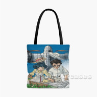 The Wind Rises With Plane Custom Personalized Tote Bag Polyester with Small Medium Large Size