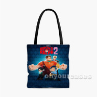 Wreck It Ralph 2 Disney Custom Personalized Tote Bag Polyester with Small Medium Large Size