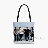 5 Seconds Of Summer Photo Session Custom Personalized Tote Bag Polyester with Small Medium Large Size