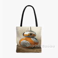 BB8 Droid Star Wars The Force Awakens Custom Personalized Tote Bag Polyester with Small Medium Large Size