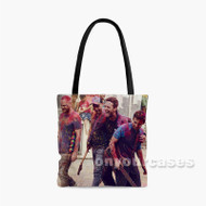 Coldplay Hymn For The Weekend Colorful Custom Personalized Tote Bag Polyester with Small Medium Large Size