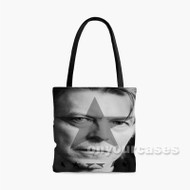 David Bowie Face Blackstar Custom Personalized Tote Bag Polyester with Small Medium Large Size