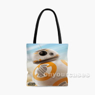 Droid BB8 Star Wars The Force Awakens Custom Personalized Tote Bag Polyester with Small Medium Large Size