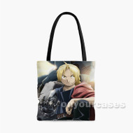 Edward Elric Fullmetal Alchemist Brotherhood Custom Personalized Tote Bag Polyester with Small Medium Large Size